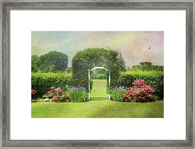 Spring Trellis Framed Print