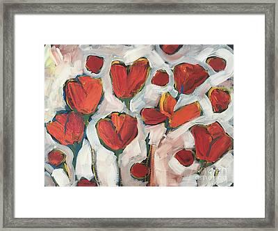Spring Tulip Garden Framed Print
