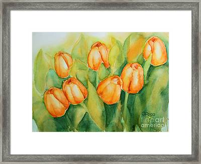 Spring Tulips 1 Framed Print
