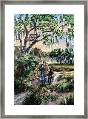 Spring Turkey Hunting - I Love You Son Framed Print