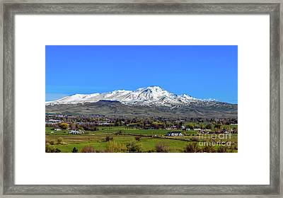Framed Print featuring the photograph Spring View Of Squaw Butte by Robert Bales