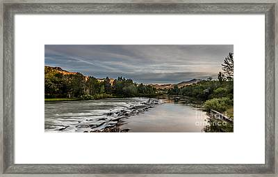 Spring View Of The Payette River Framed Print by Robert Bales