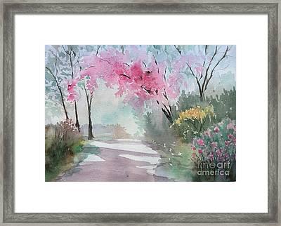 Spring Walk Framed Print by Yohana Knobloch