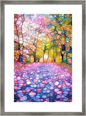 Spring Walkways Framed Print