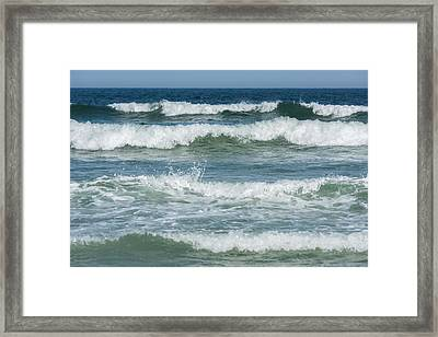 Spring Waves Seaside New Jersey Framed Print by Terry DeLuco