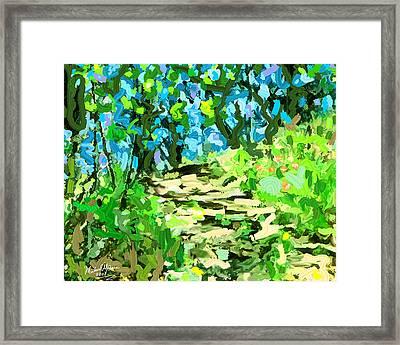 Spring Wood Path  Framed Print