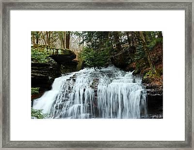 Springfield Falls Framed Print by Skip Tribby