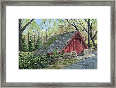 Springhouse At Cuttalossa Framed Print