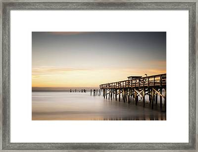 Springmaid Pier Mathew Aftermath Framed Print