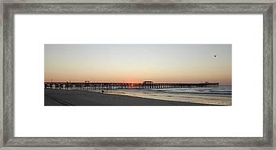 Springmaid Pier Sunrise Framed Print