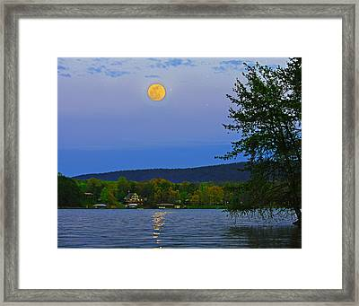 Spring's First Full Moon Smith Mountain Lake Framed Print