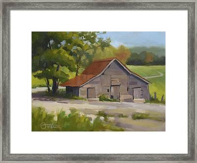 Springs Horse Barn Framed Print by Todd Baxter