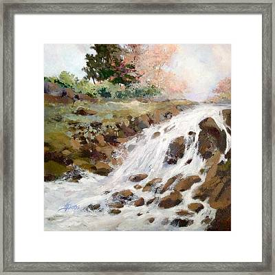 Framed Print featuring the painting Spring's Promise by Helen Harris