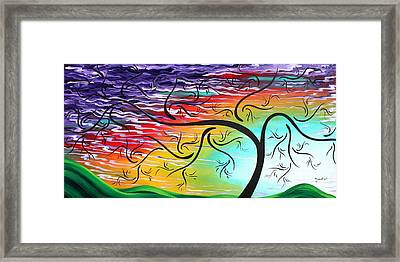 Springs Song By Madart Framed Print by Megan Duncanson