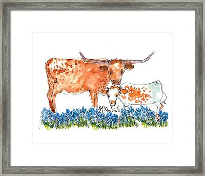 Springs Surprise Watercolor Painting By Kmcelwaine Framed Print