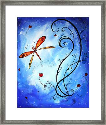 Springs Sweet Song Original Madart Painting Framed Print by Megan Duncanson