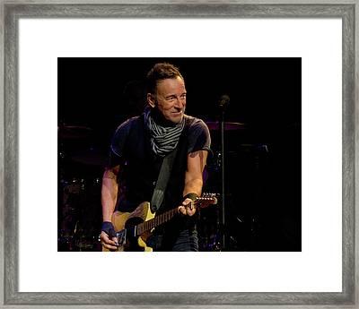 Springsteen-cleveland River Tour 2016 Framed Print