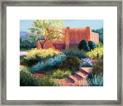 Springtime Adobe Framed Print by Candy Mayer