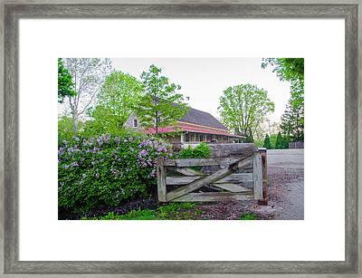 Springtime At Plymouth Meeting Friends Framed Print by Bill Cannon
