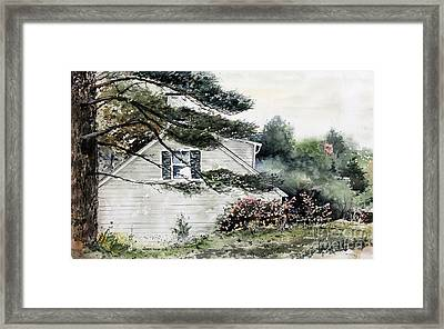 Springtime At Round Pond Maine Framed Print by Monte Toon
