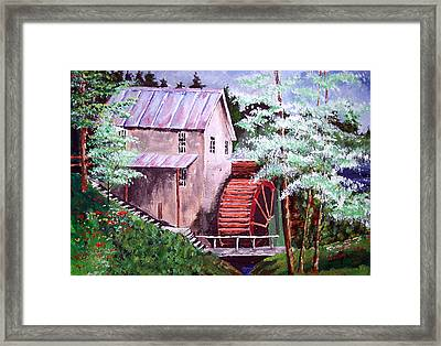 Framed Print featuring the painting Springtime At The Old Mill by Jim Phillips