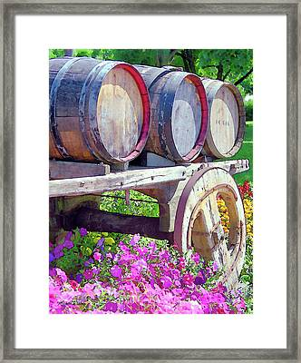 Springtime At V Sattui Winery St Helena California Framed Print by Michelle Wiarda