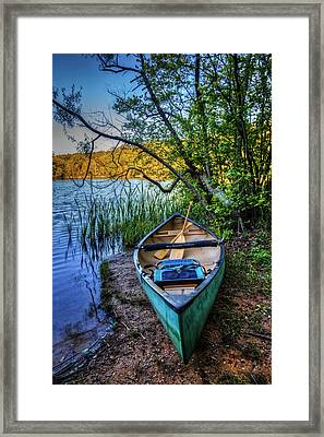 Springtime Canoe Framed Print