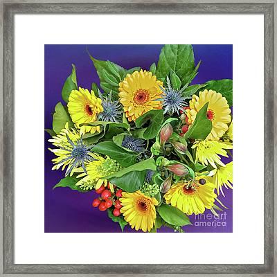 Springtime - Flower Bouquet Framed Print by Gabriele Pomykaj