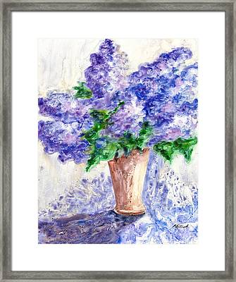 Springtime Fragrance Framed Print by Marsha Elliott