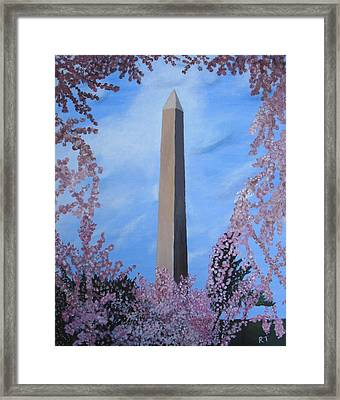 Springtime In Dc Framed Print
