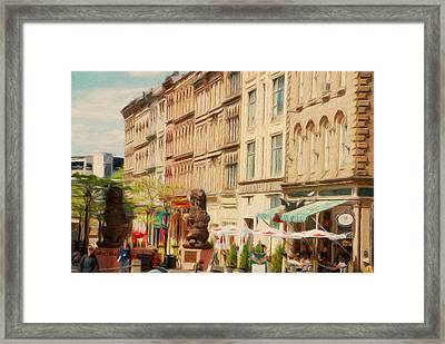 Springtime In Halifax Framed Print