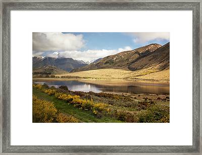Framed Print featuring the photograph Springtime In New Zealand by Cheryl Strahl