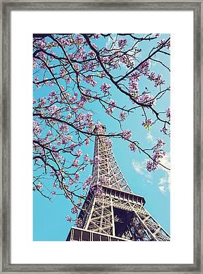 Springtime In Paris - Eiffel Tower Photograph Framed Print by Melanie Alexandra Price