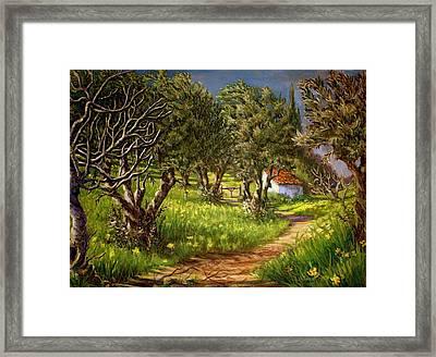 Springtime In Skiathos Framed Print by Yvonne Ayoub