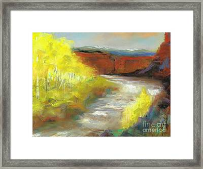 Springtime In The Rockies Framed Print by Frances Marino