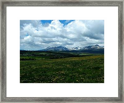 Springtime In The Rockies Framed Print