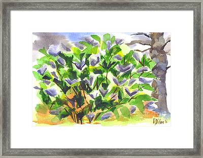 Framed Print featuring the painting Springtime Lilac Abstraction by Kip DeVore
