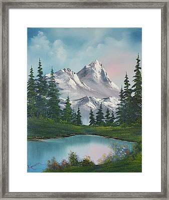 Springtime Mountain Framed Print