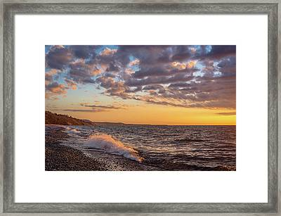 Springtime On Agate Beach Framed Print