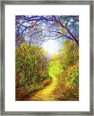 Springtime Pathway Discoveries Framed Print