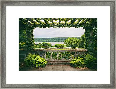 Springtime Pergola Framed Print by Jessica Jenney