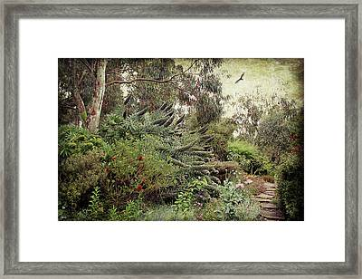 Framed Print featuring the digital art Springtime Spires by Margaret Hormann Bfa