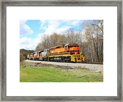 Springtime Train Framed Print