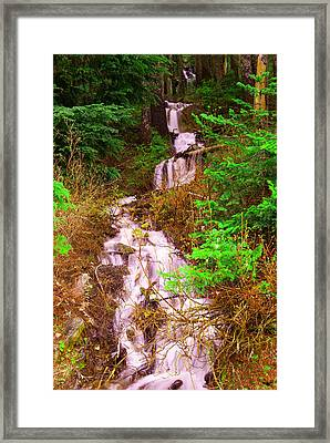 Springtime Waterfall  Framed Print by Jeff Swan