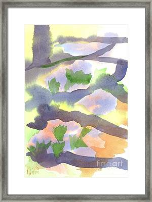 Framed Print featuring the painting Springtime Wildflower Camouflage  by Kip DeVore