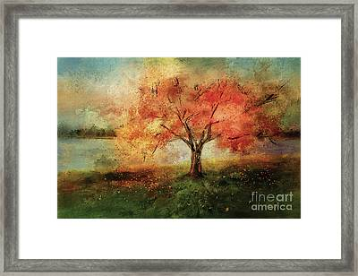 Framed Print featuring the digital art Sprinkled With Spring by Lois Bryan