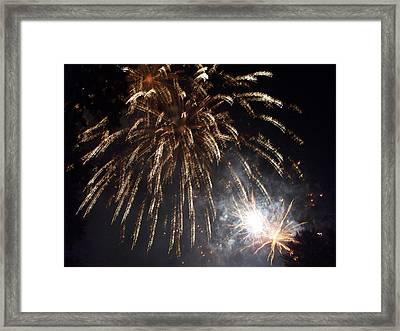 Sprinkler In The Sky Framed Print by Rosanne Bartlett