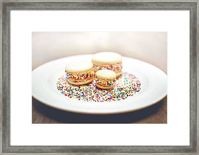 Sprinkles And Macarons Framed Print by Happy Home Artistry