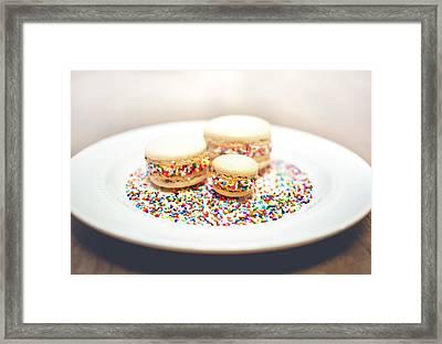 Sprinkles And Macarons Framed Print