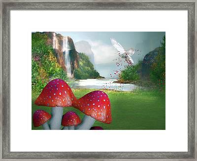 Sprinkling Red Magic Framed Print by Georgiana Romanovna